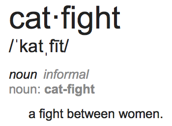 Cat Fight - a fight between women.